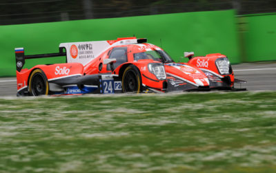 Simon Trummer after a successful FIA WEC prologue in Monza
